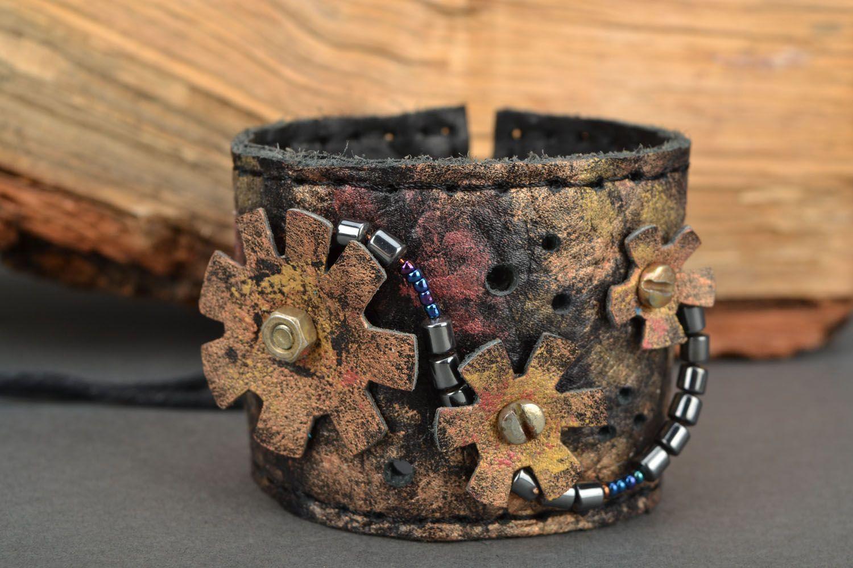 Handmade leather bracelet photo 1