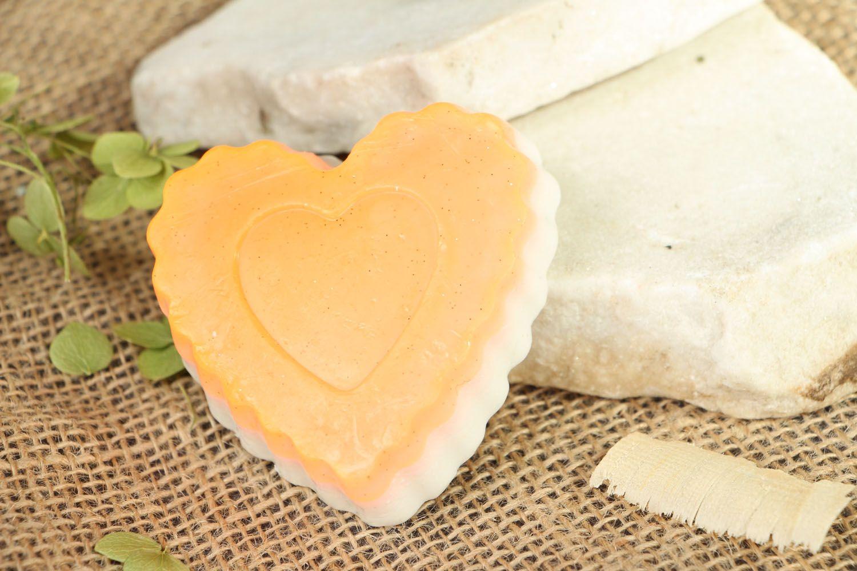 Homemade soap with cinnamon Heart photo 4