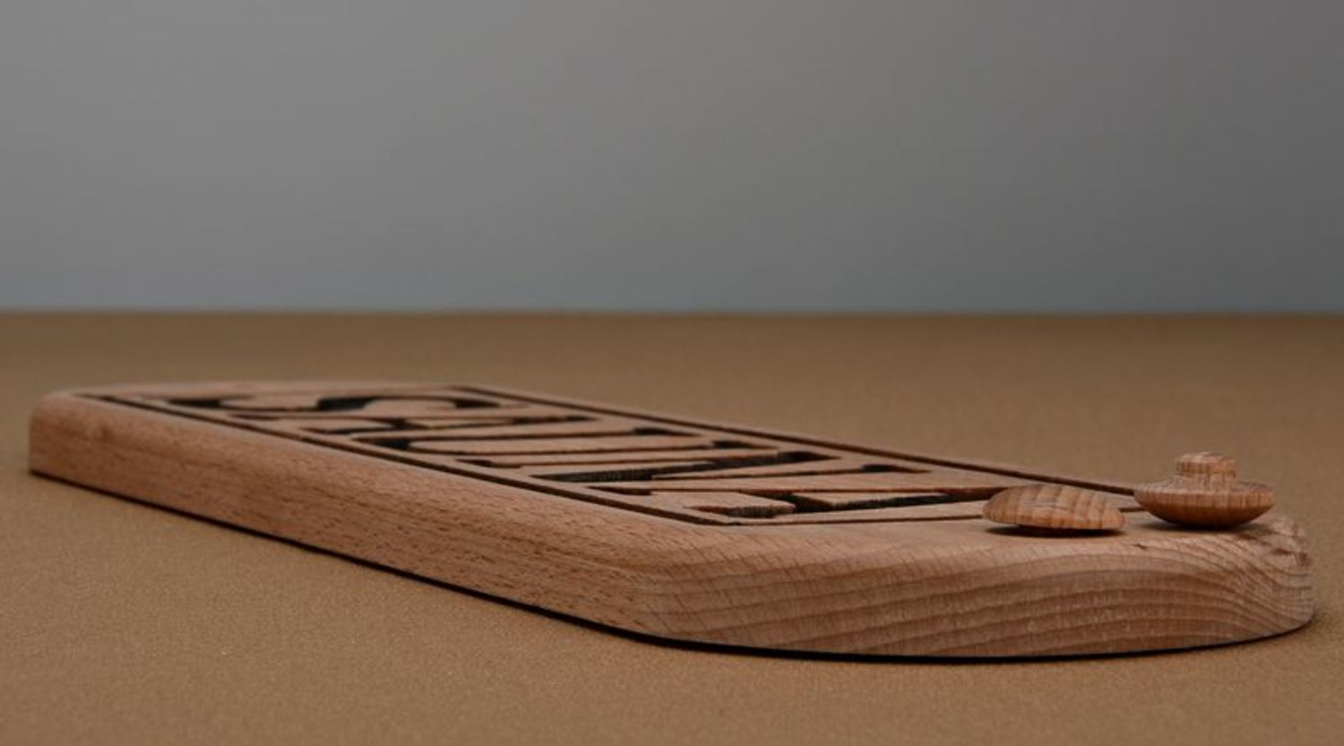 Wooden nameplate for sauna photo 4