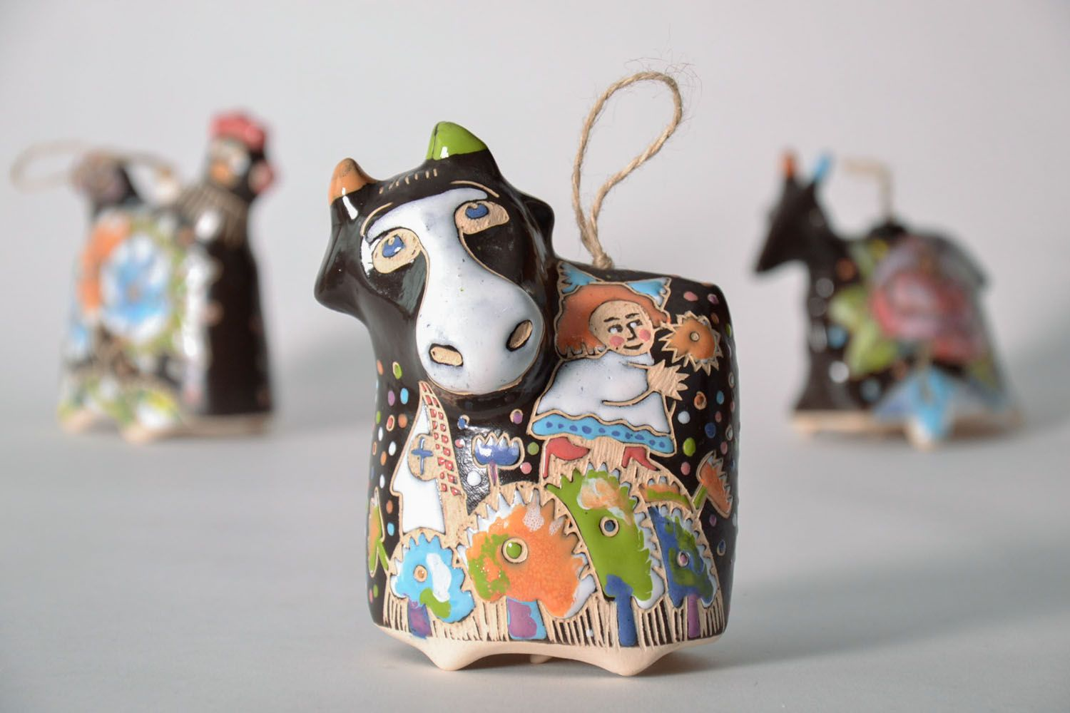Decorative bell Cow photo 1