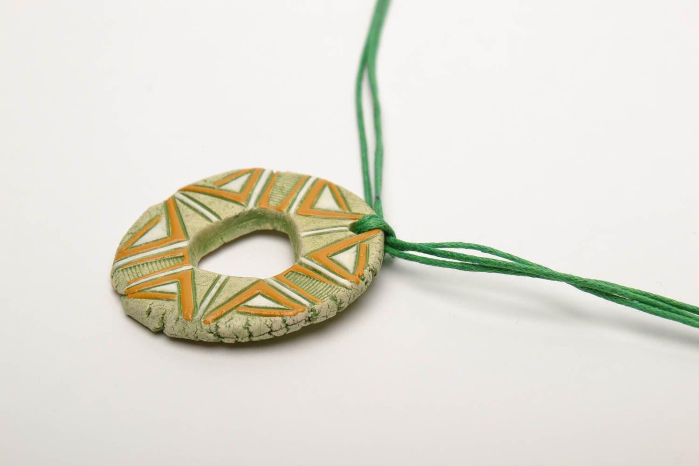Ceramic pendant in ethnic style photo 4