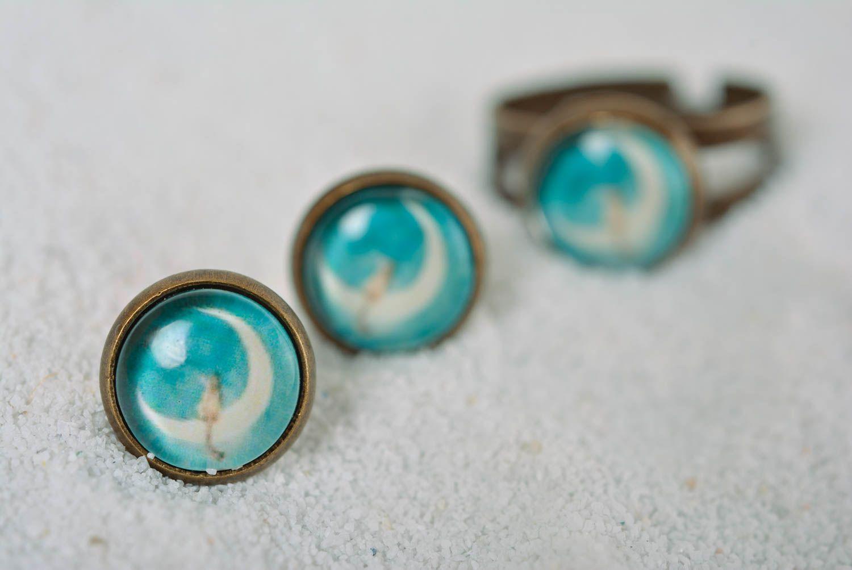 Handmade earrings stud earrings fashion jewelry designer accessories gift ideas photo 5