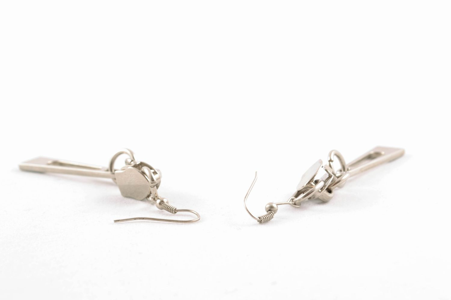 Earrings with metal charms photo 4