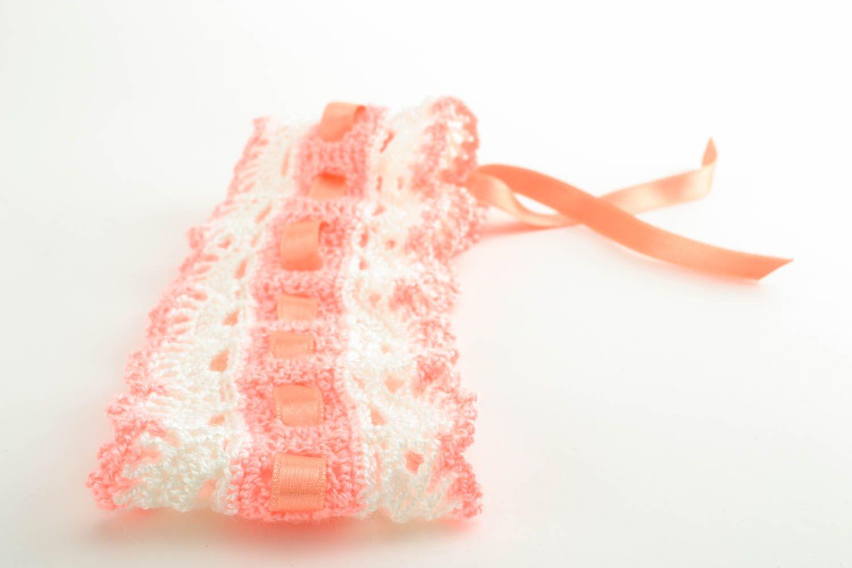 Crochet baby headband photo 3