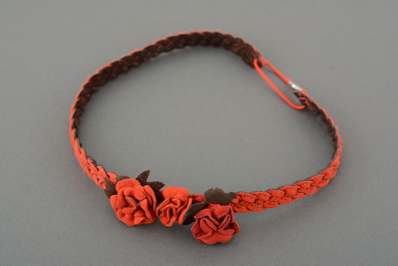 Haarband aus Leder foto 1