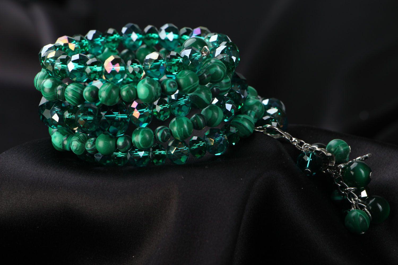 Wide bracelet Emerald photo 1
