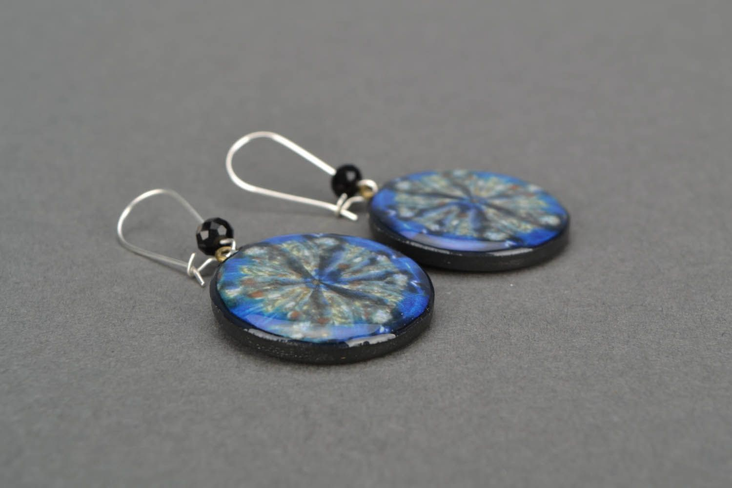 Earrings with author's image photo 5