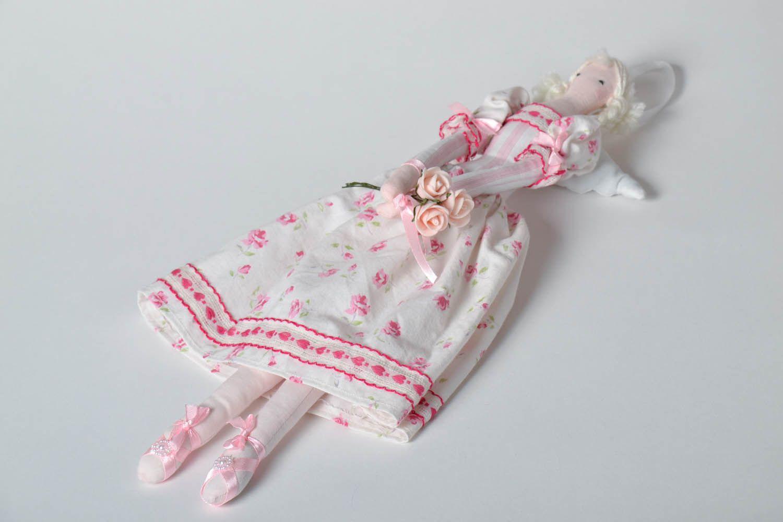 Interior doll made of natural fabrics photo 2
