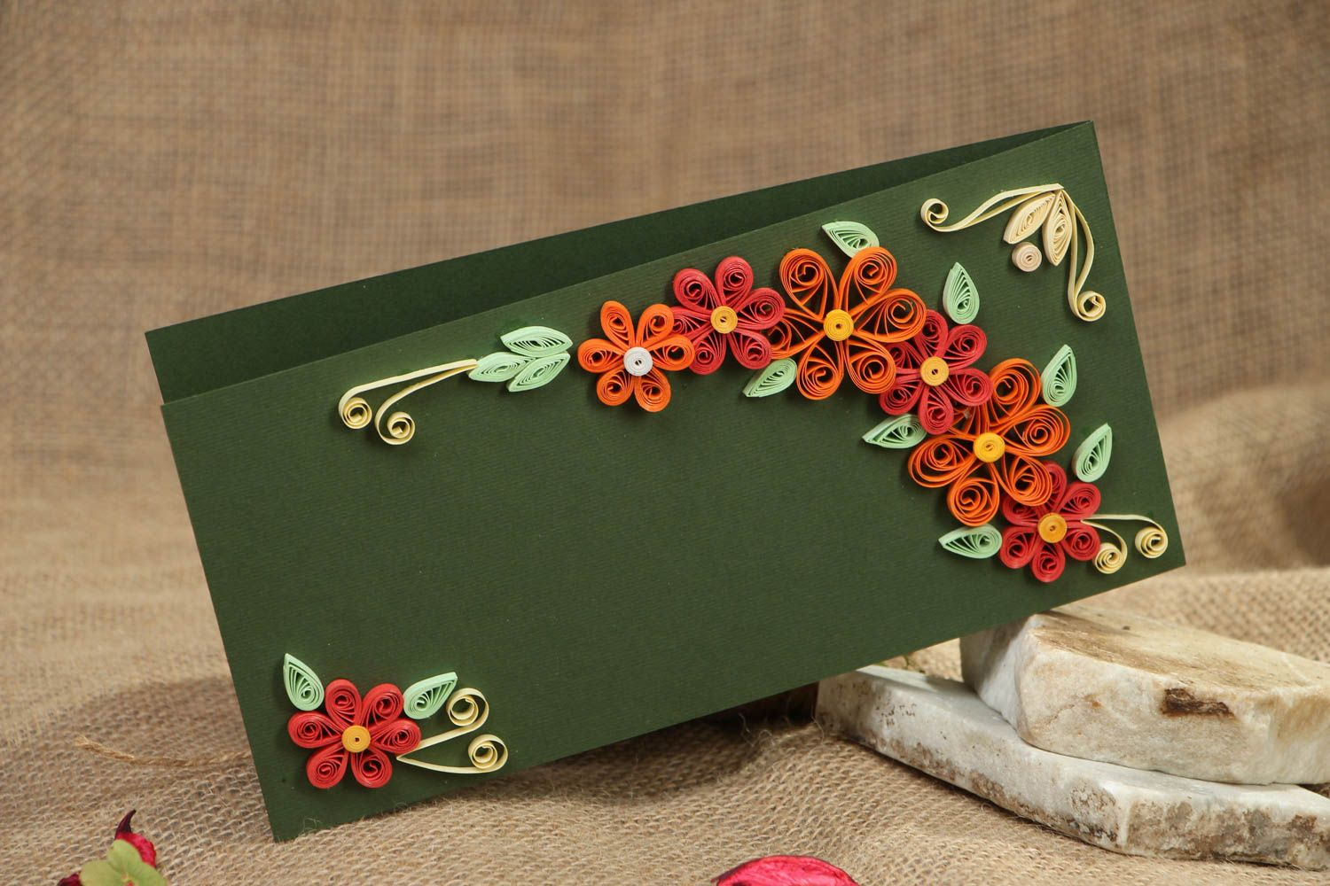 Handmade quilling greeting card photo 5