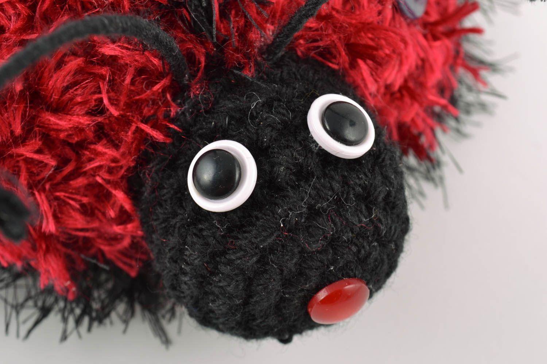 Handmade soft crochet wool toy for children beautiful Ladybug amigurumi photo 3