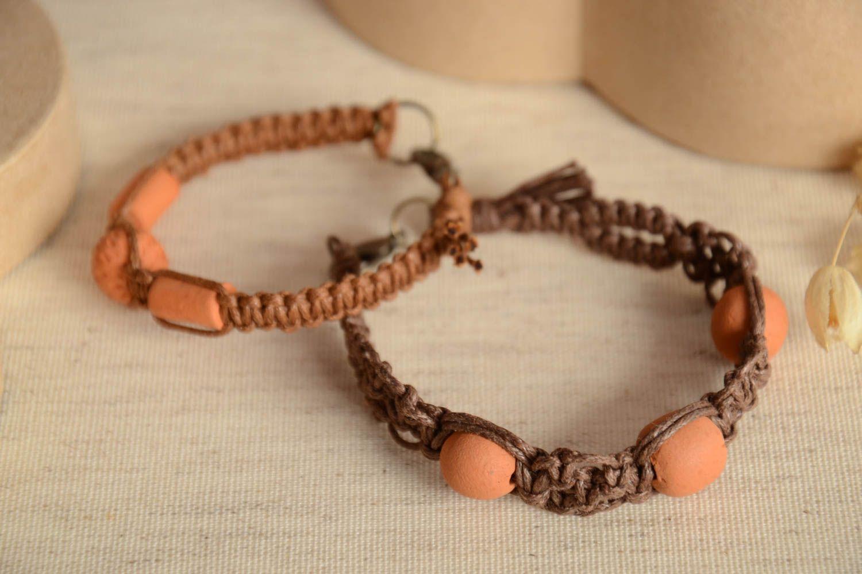 Плетёные браслеты ручной работы