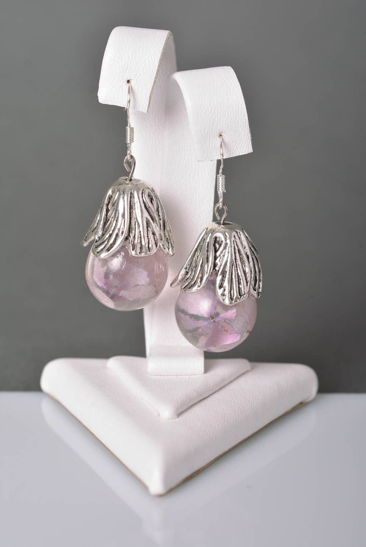 Handmade jewelry botanic earrings flower earrings accessories for girls photo 2