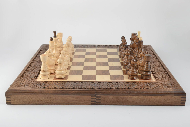 madeheart u003e unusual handmade wooden chessboard wood craft chess