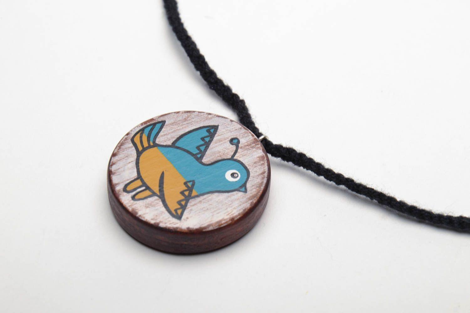 Wooden pendant Ukrainian Bird photo 3