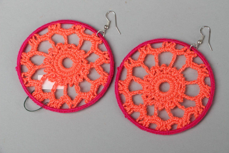 Lacy earrings Orange photo 1