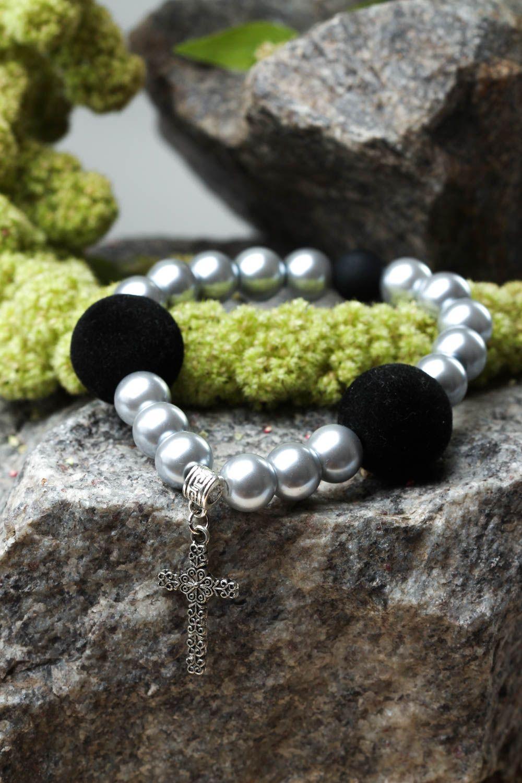 Handmade bracelet glass accessory unusual bracelet for girls designer jewelry photo 1