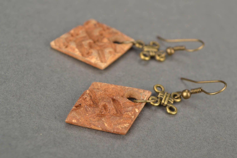 Square earrings photo 5