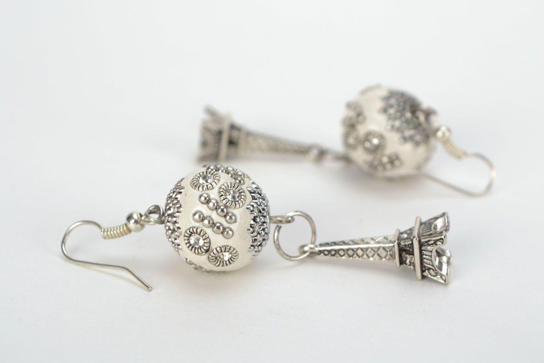 Earrings with rhinestones photo 4
