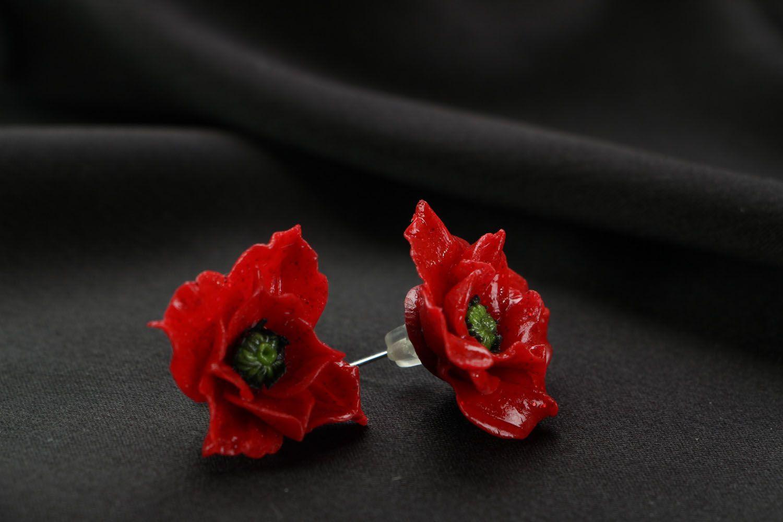 Unusual homemade earrings photo 1