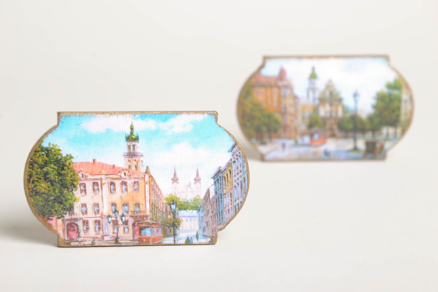 Handmade fridge magnet 2 pieces home decoration small gifts decorative use only photo 2