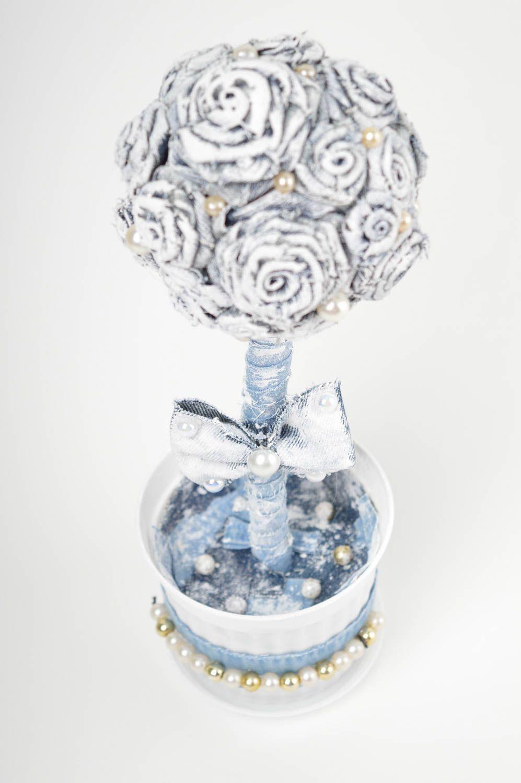 White handmade topiary tree designer jeans tree decorative use only nice present photo 5