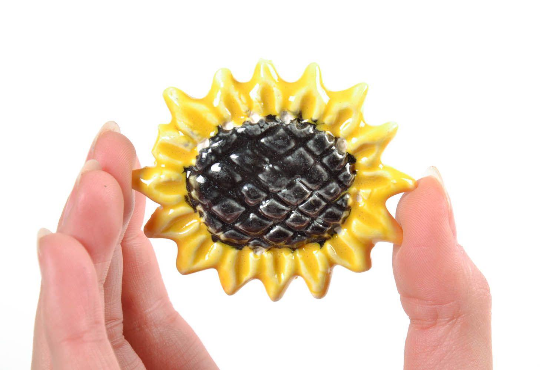 Fridge magnet in the form of sunflower photo 2