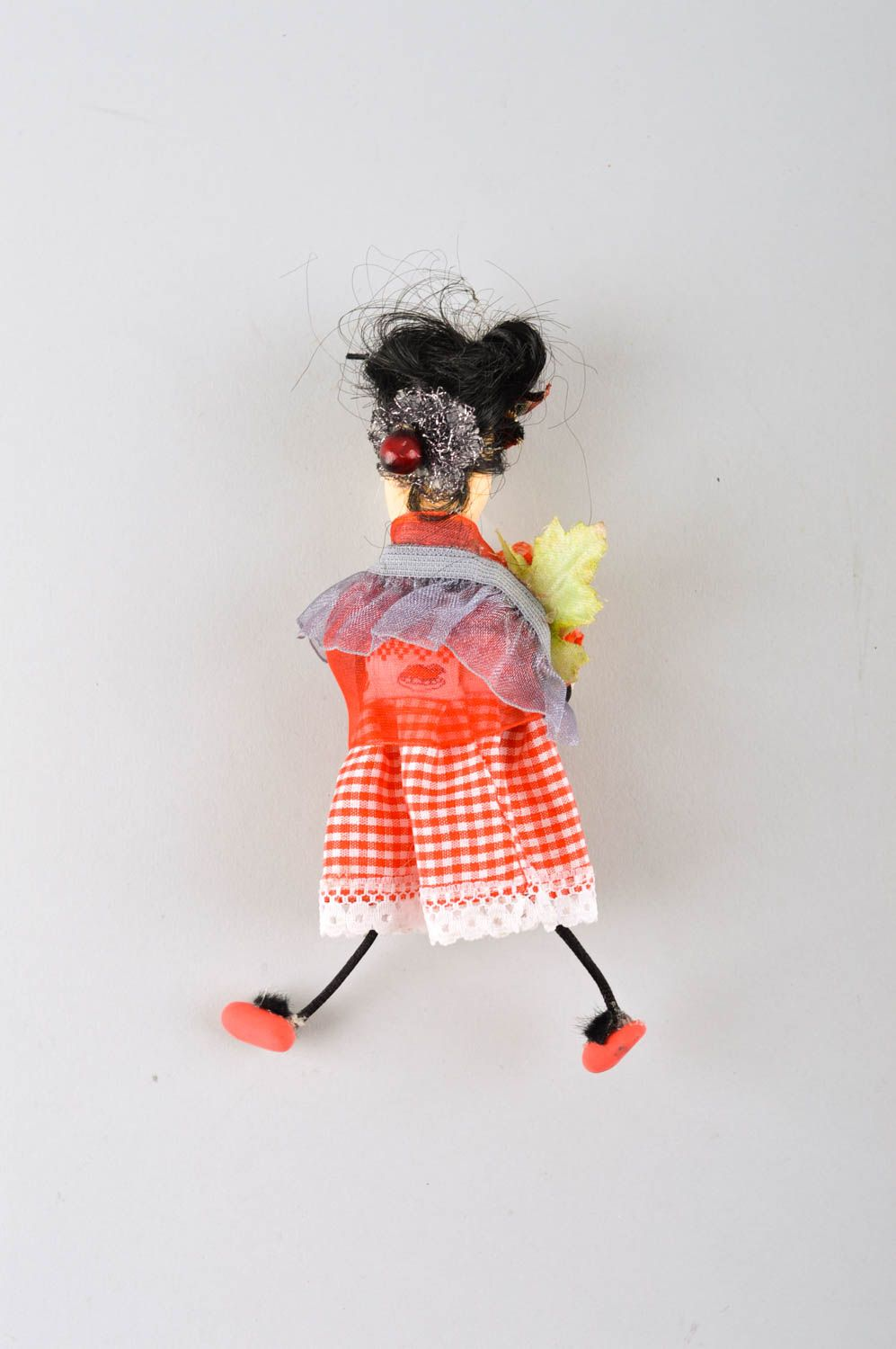 Beautiful handmade fabric toy rag doll collectible dolls decorative use only photo 4