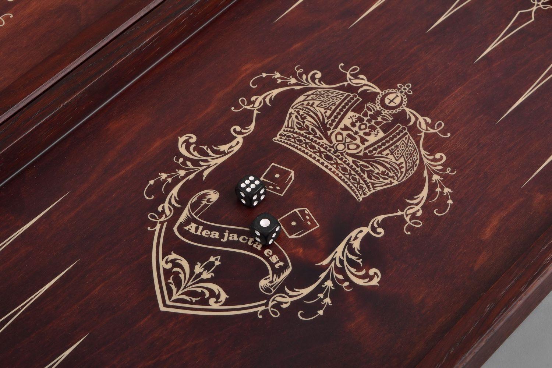 Handmade wooden backgammon photo 4