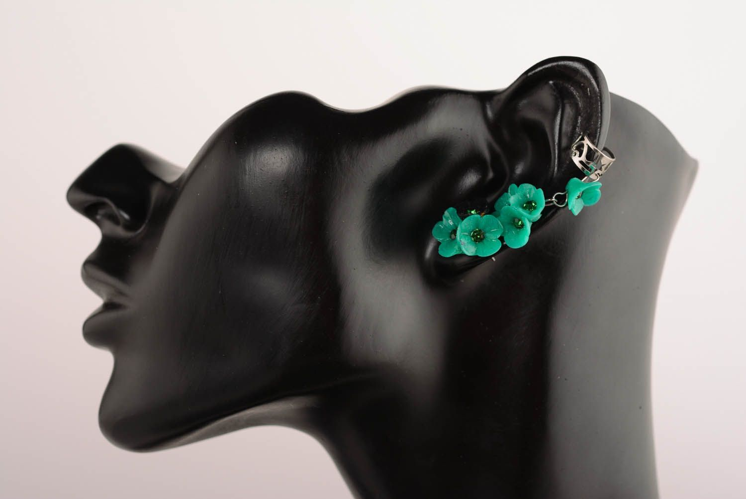 Green cuff earrings Oblivion photo 1