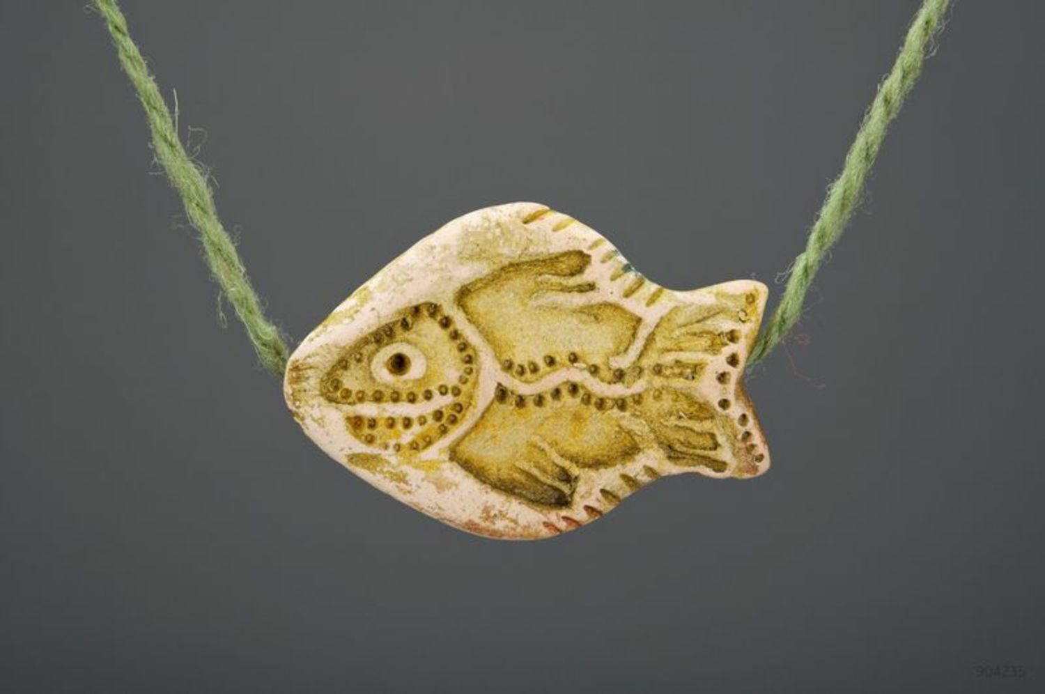 Clay pendant Fish photo 2