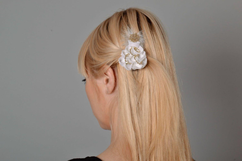 White hair clip Christmas Tree photo 1