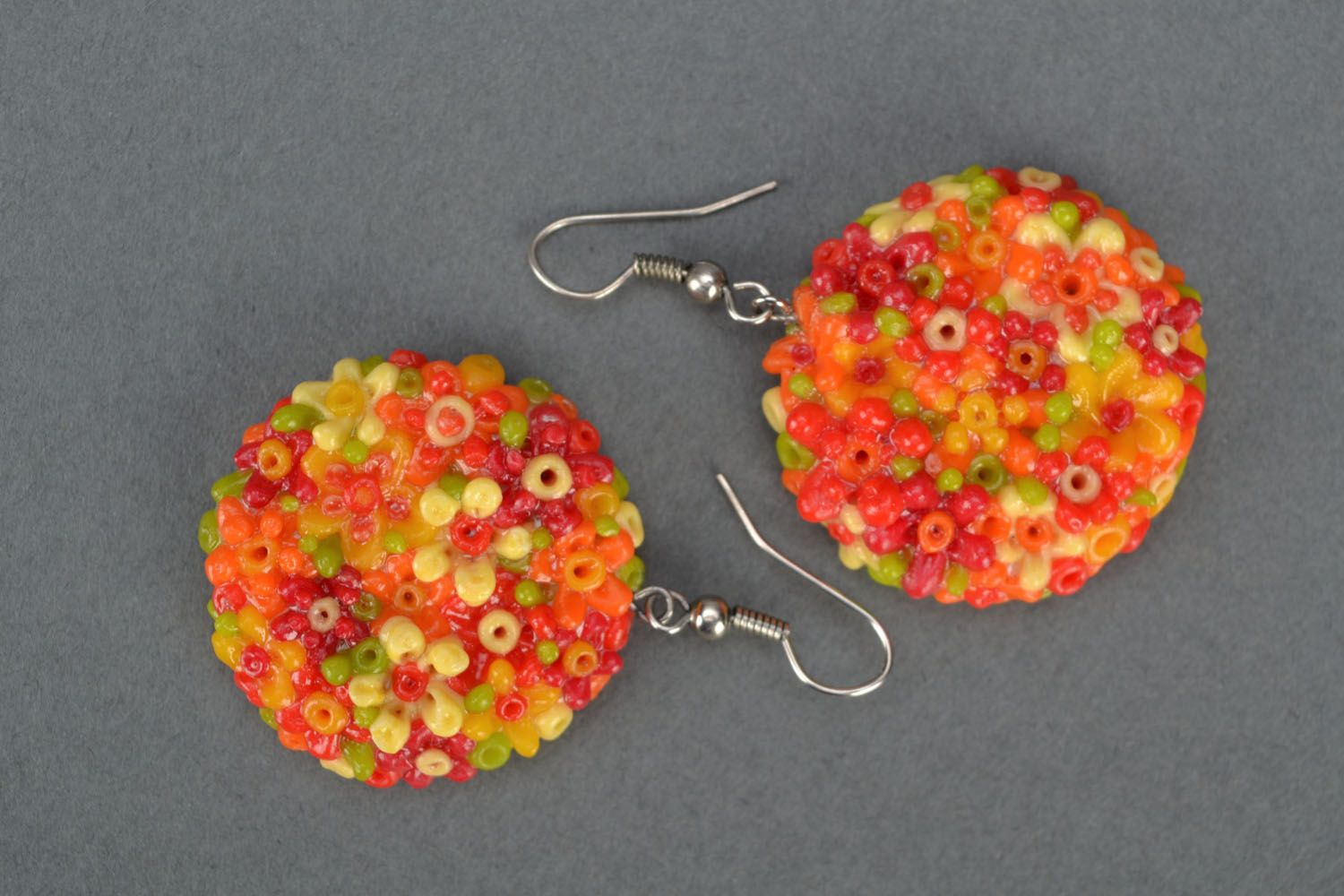 Earrings made of polymer clay photo 4