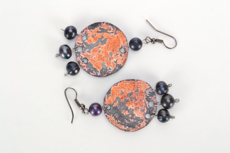 Copper earrings photo 3