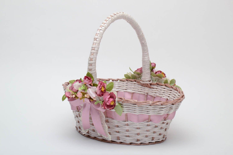 Как украсить плетеную корзину своими руками под фрукты