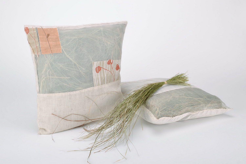 Herbal pillow in a cotton pillowcase photo 1
