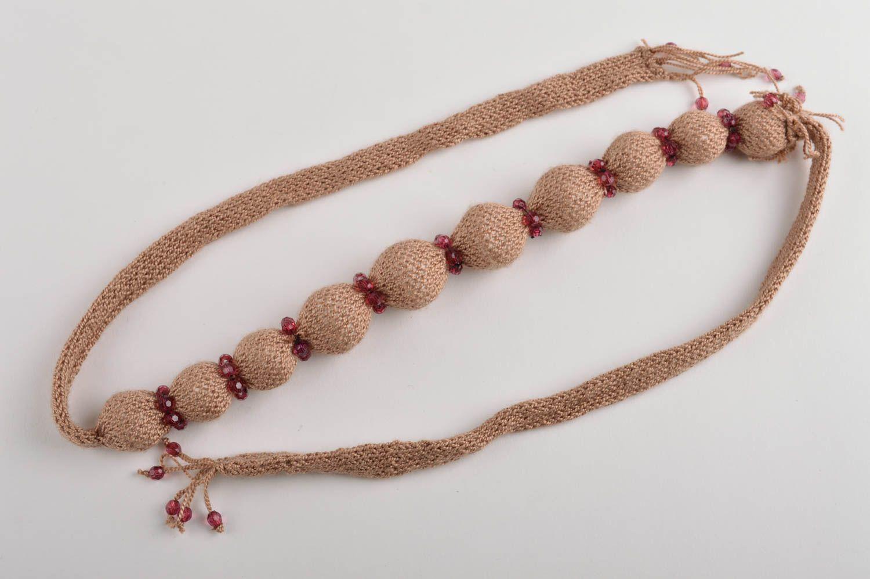 joyería de Tela Gargantilla original hecha a mano de hilos bisutería fina collar de moda ,