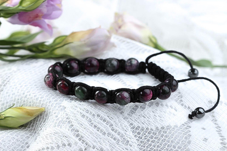 Handcrafted jewelry bead bracelet gemstone jewelry womens accessories photo 1