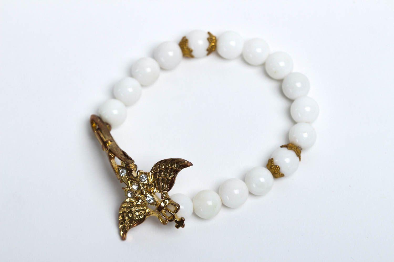 Handmade designer beaded bracelet unusual tender jewelry bracelet with charm photo 2