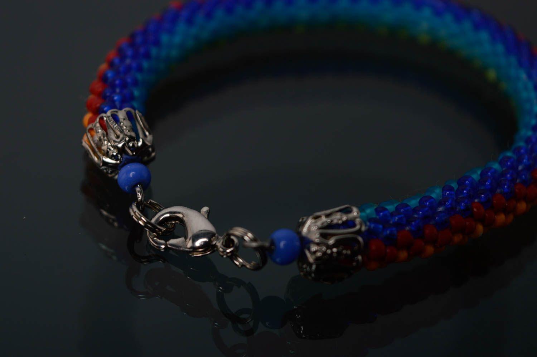 Regenbogen Armband aus Rocailles foto 5