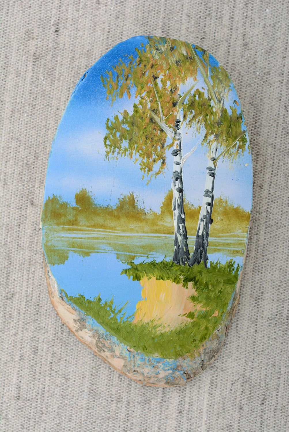 Wooden fridge magnet Day photo 4
