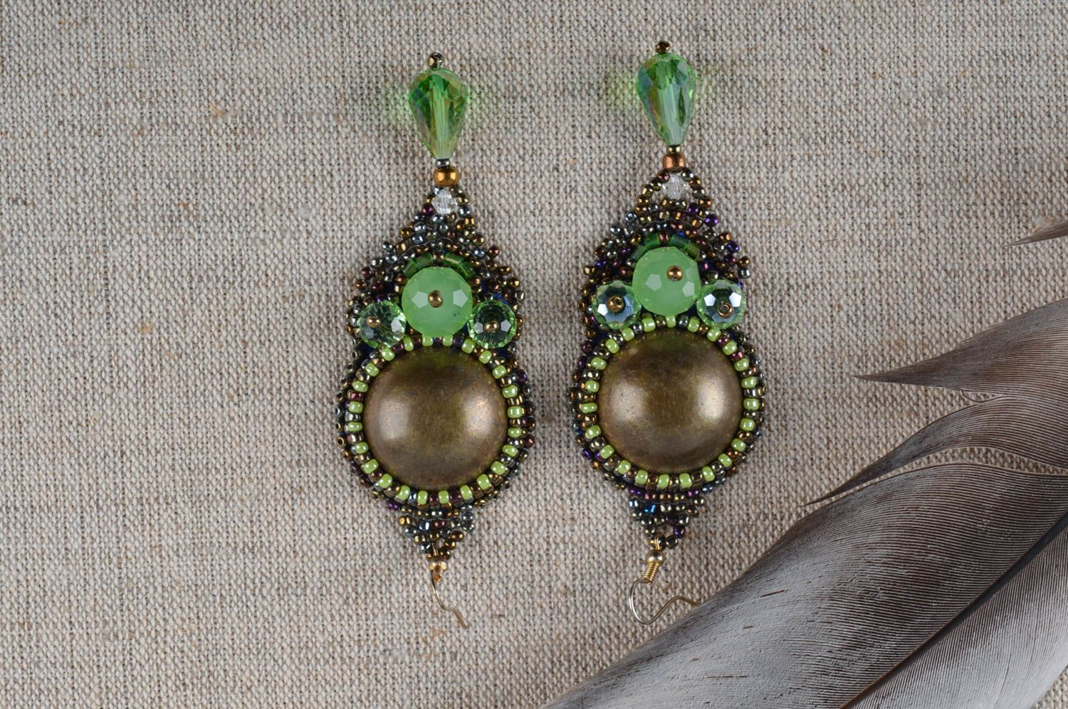 dangle earrings Unusual handmade beaded earrings costume jewelry designs fashion trends - MADEheart.com