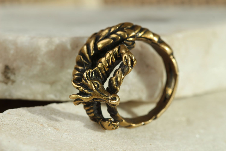 Bronze ring Dragon photo 2