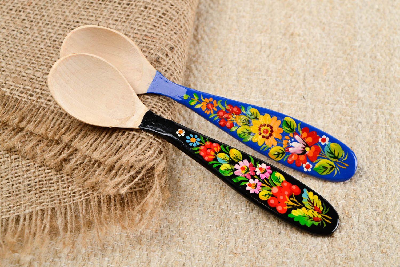 Madeheart cucharas de madera decoradas hechas a mano - Cocinas hechas a mano ...