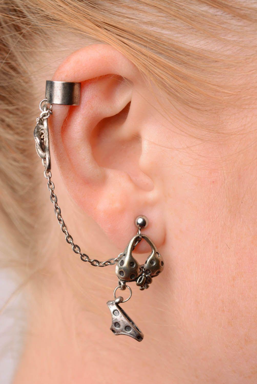Metal cuff earrings On the Beach photo 3