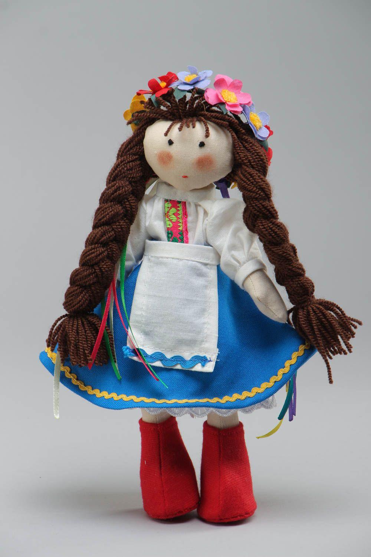 Тканевая кукла для интерьера в национальном костюме из ...