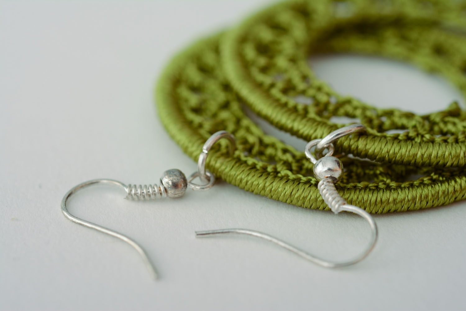 Homemade woven earrings photo 5