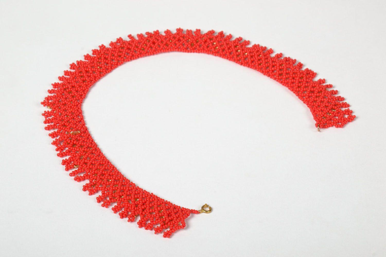 Handmade beaded necklace photo 4