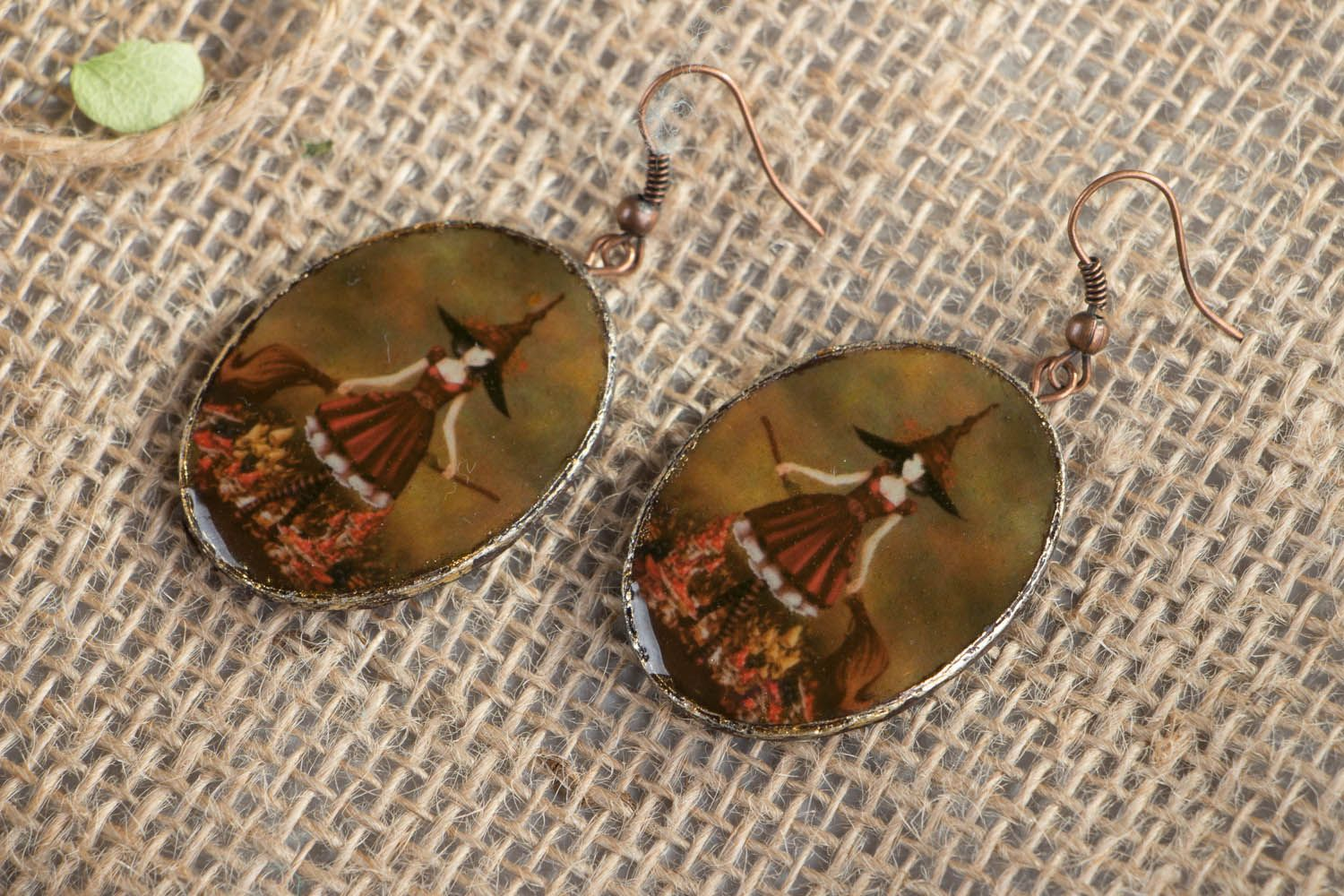 Polymer clay earrings Fairy photo 1