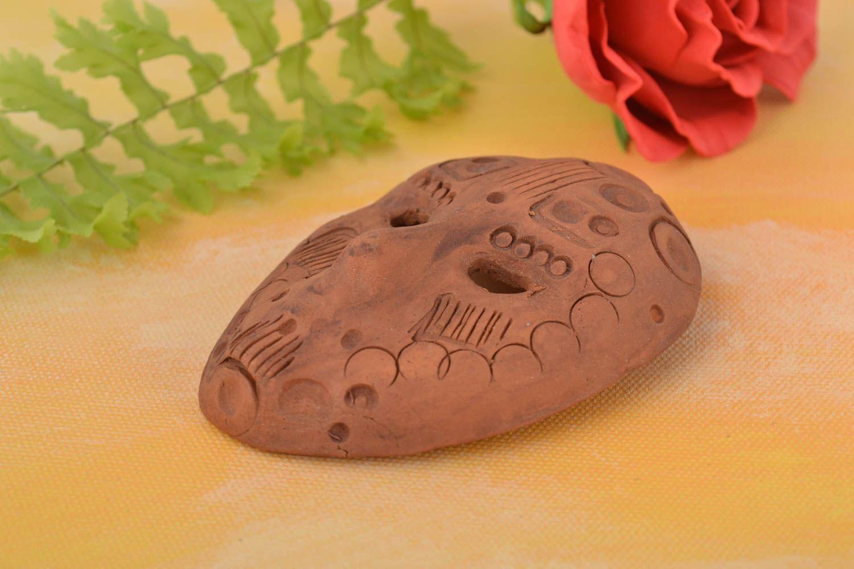 Handmade fridge magnet mask ceramic decorative mask decorative use only photo 1