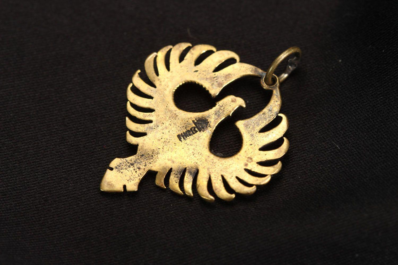 Bronze pendant Phoenix photo 3